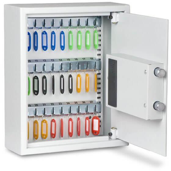 The Burton KS27 Key Cabinet open